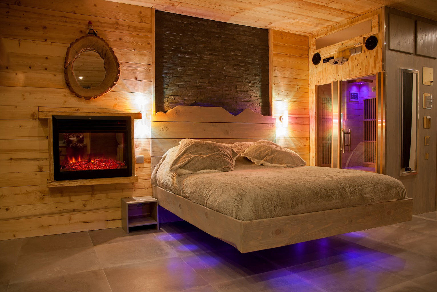 suite spa ski avec sauna et jacuzzi nuit d 39 amour. Black Bedroom Furniture Sets. Home Design Ideas