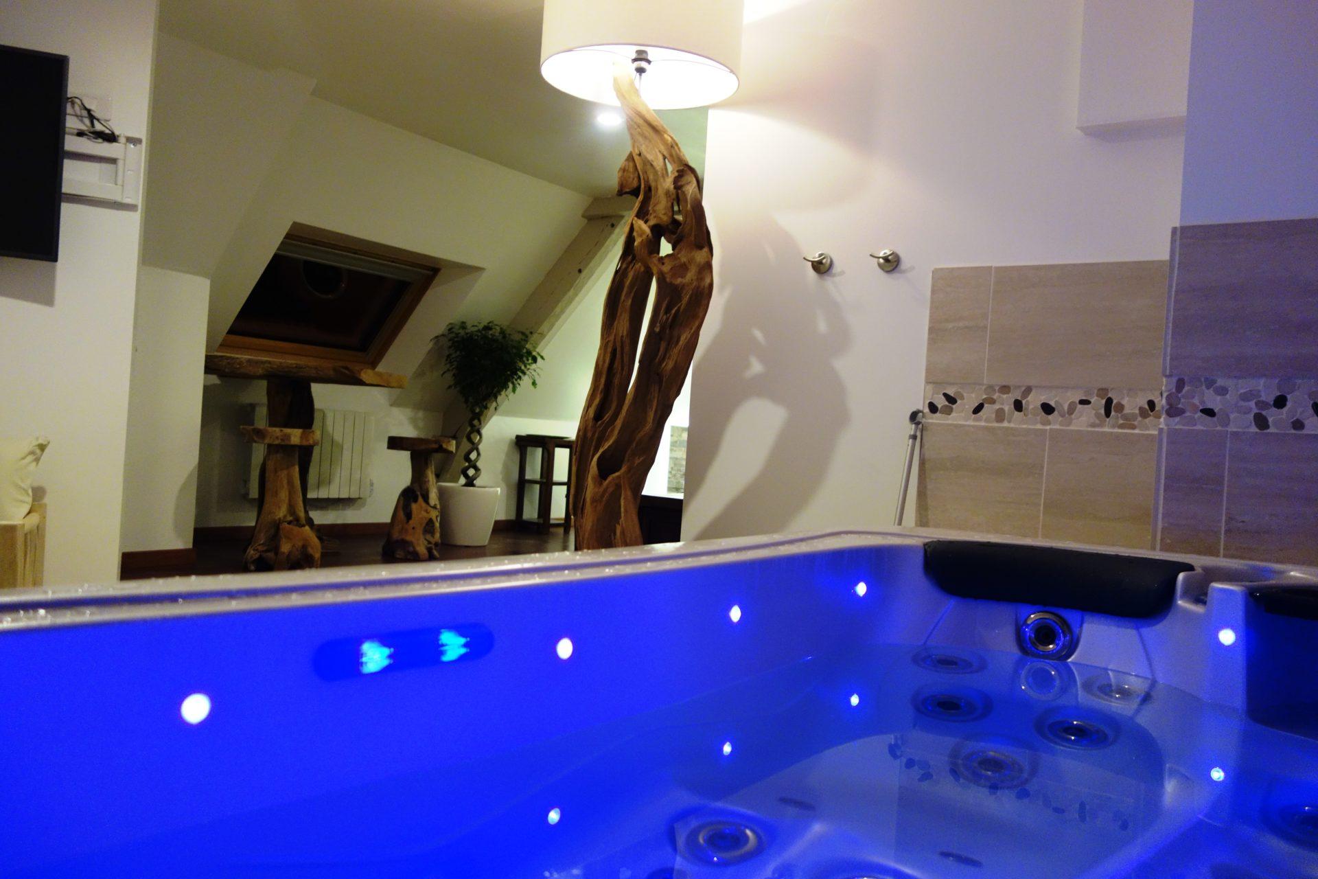 Domaine de la besnerie la suit 39 baliwood nuit d 39 amour - Chambre avec jacuzzi privatif sud ouest ...